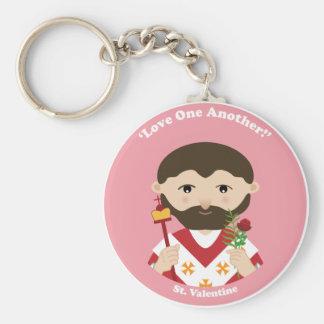 St. Tarjeta del día de San Valentín Llavero Redondo Tipo Pin