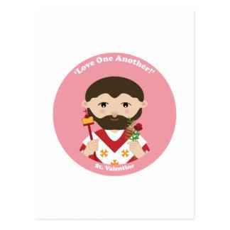 St. Tarjeta del día de San Valentín Postal