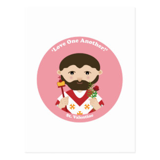 St. Tarjeta del día de San Valentín Tarjeta Postal