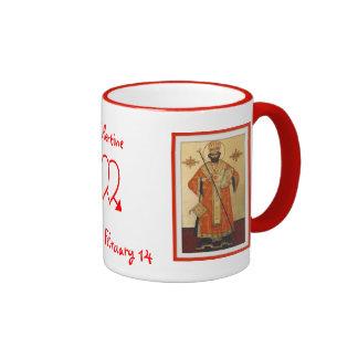 St. Tarjeta del día de San Valentín Taza De Café