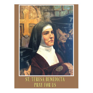 ST. TERESA BENEDICTA OF THE CROSS EDITH STEIN POSTCARD