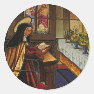 St Teresa de Ávila (2) Pegatina Redonda