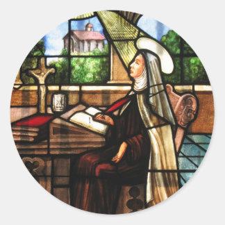 St Teresa de Ávila (3) Pegatina Redonda