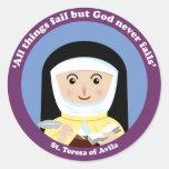 St Teresa de Ávila Etiquetas Redondas