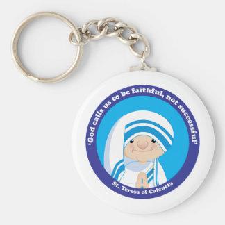 St Teresa de Calcutta Llavero Redondo Tipo Pin