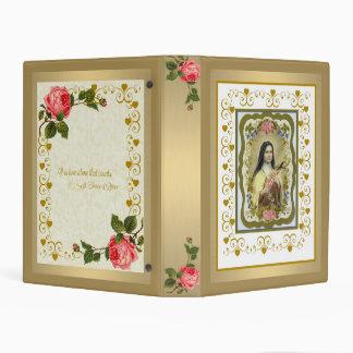 """St. Teresa de Lisieux mini 1"""" carpeta Mini Carpeta"""