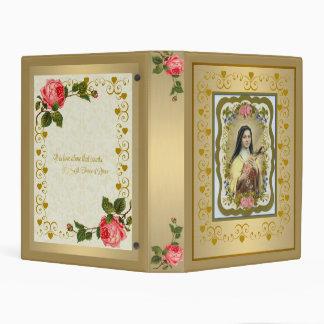 """St. Teresa del oro de Lisieux mini 1"""" carpeta Mini Carpeta"""