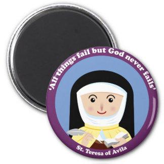 St. Teresa of Avila 2 Inch Round Magnet