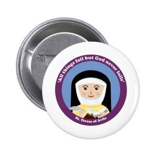 St. Teresa of Avila Button
