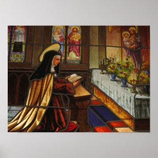 St. Teresa of Avila in prayer Poster