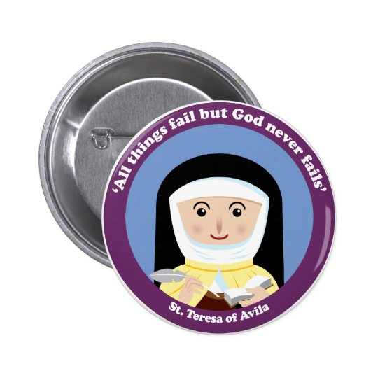 St. Teresa of Avila Pinback Button