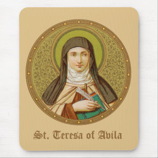 St. Teresa of Avila (SNV 27) (RoundImage) Vertical Mouse Pad