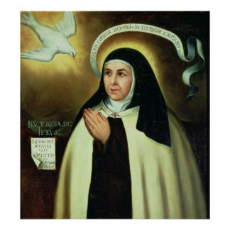 St Theresa de Ávila 1570 Posters