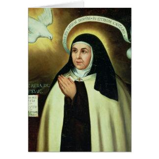 St Theresa de Ávila 1570 Tarjetón