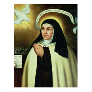 St Theresa de Ávila 1570 Postal