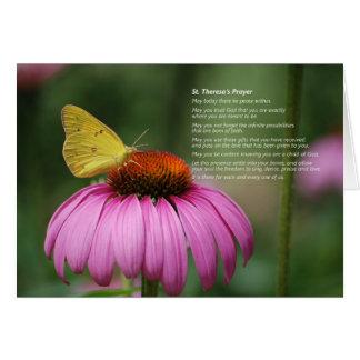 St. Theresa's Prayer card