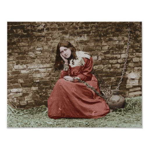 st therese as joan of arc  poster