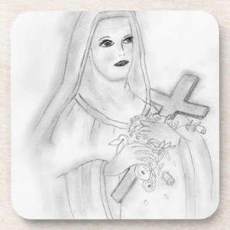 St Therese Beverage Coaster