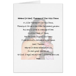 St Therese Card