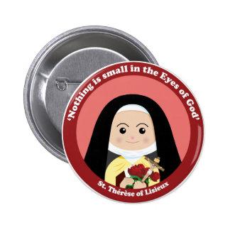 St. Thérèse de Lisieux Pin Redondo De 2 Pulgadas