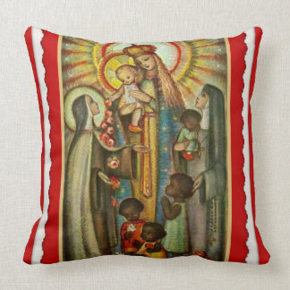 St. Therese  Katherine Drexel Mary Roses Children Throw Pillow