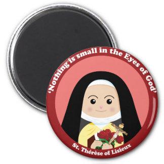St. Thérèse of Lisieux 2 Inch Round Magnet
