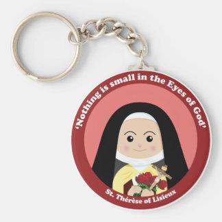 St. Thérèse of Lisieux Basic Round Button Keychain