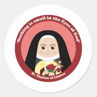 St. Thérèse of Lisieux Classic Round Sticker