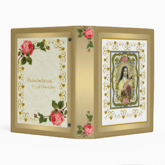 """St. Therese of Lisieux Mini 1"""" Binder"""