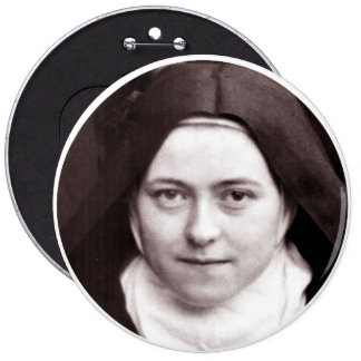 ST THERESE OF LISIEUX, THE LITTLE FLOWER, BUTTON