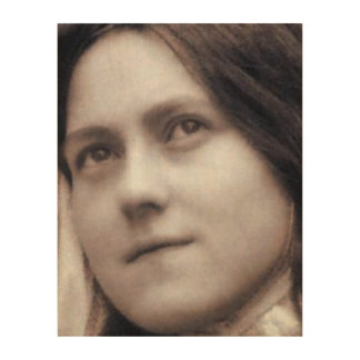 St Therese of Lisieux, Wood Print