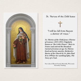 St. Therese of the Child Jesus Lisieux Holy Card