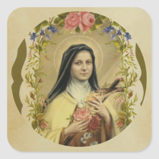 St. Therese of the Child Jesus Square Sticker