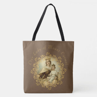 St. Therese & Our Lady of Mt. Carmel Tote Bag