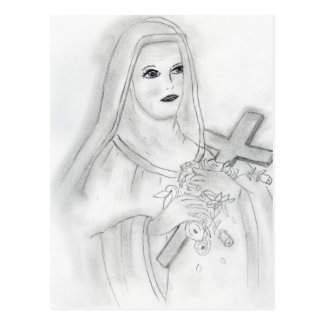 St Therese Postcard