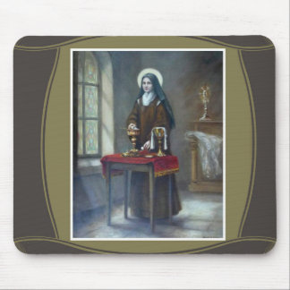 St. Therese Sacristan Chalice Host Table Mouse Pad
