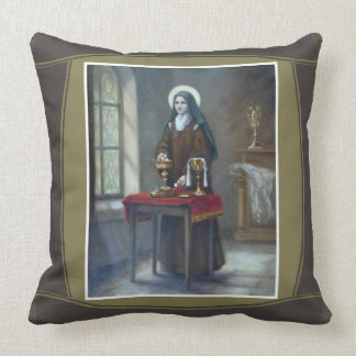 St. Therese Sacristan Chalice Host Table Throw Pillow