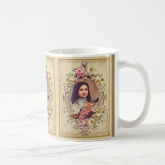 St. Therese the Little Flower Roses Crucifix Coffee Mug