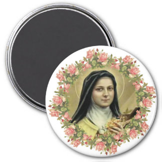 St. Therese the Little Flower Roses Crucifix Magnet