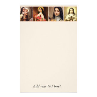 St. Therese the Little Flower Roses Crucifix Stationery