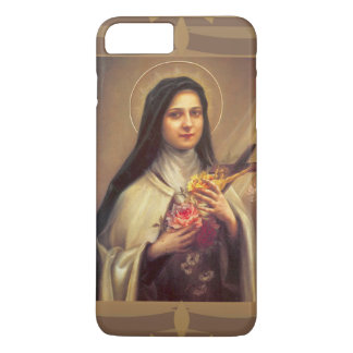 St. Therese the Little Flower w/pink roses iPhone 8 Plus/7 Plus Case