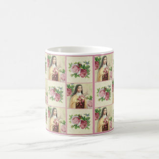 St. Therese the Little Flower w/red roses Coffee Mug