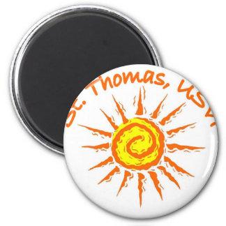 St. Thomas 2 Inch Round Magnet