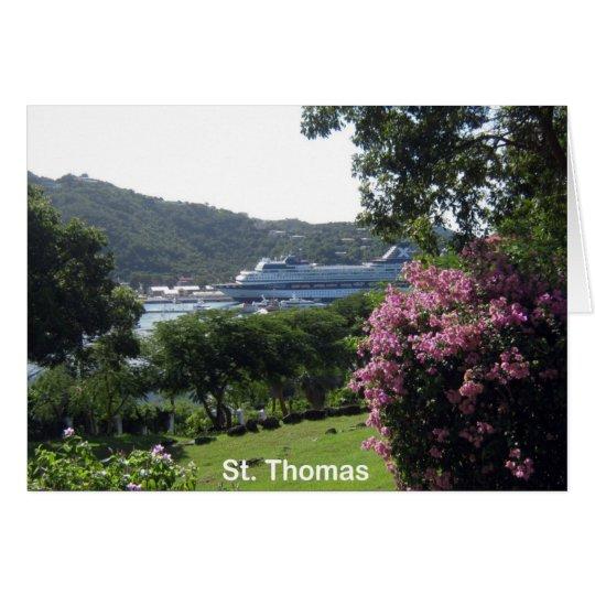 St. Thomas and Cruise Ship Card