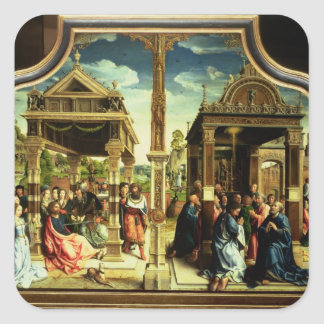 St. Thomas and St. Matthew Altarpiece Square Sticker