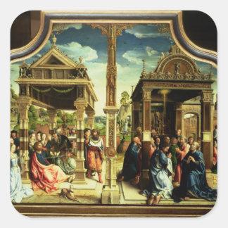 St. Thomas and St. Matthew Altarpiece Square Sticker