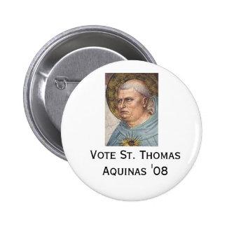 "St Thomas Aquinas ""08 Pin Redondo De 2 Pulgadas"