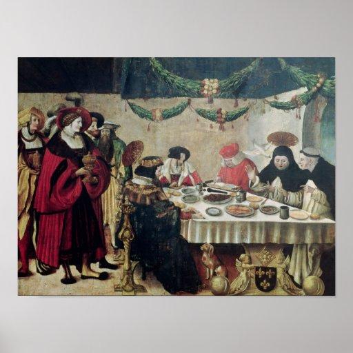 St. Thomas Aquinas  and Louis IX Print