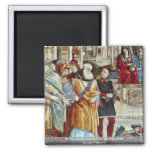 St. Thomas Aquinas And The Heretics Detail 2 Inch Square Magnet