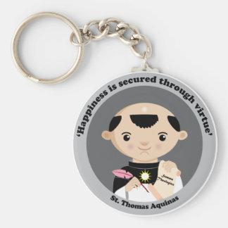 St. Thomas Aquinas Basic Round Button Keychain